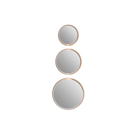 Komplet 3 okrągłych luster w złotej oprawie INDEX: 12F-361 złoty