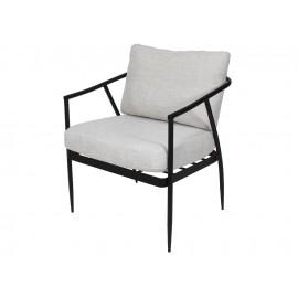 Stalowy czarny fotel jasne poduszki TOYJ19-626B