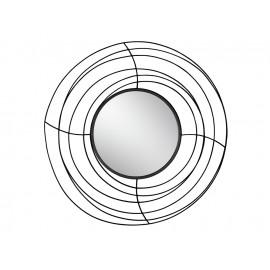 Okrągłe lustro czarna metalowa rama z drucików Ø 105 cm TOYJ19-377
