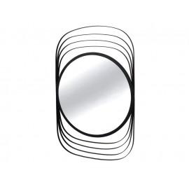 Okrągłe lustro w stalowej czarnej ramie 66 x 100 cm TOYJ19-368