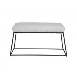 Metalowa czarna ławka z jasnym siedziskiem 80 x 45 x 42 cm TOYJ19-547