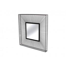 Lustro w ramie ze stalowych czarnych drucików 65 x 65 x 6,5 TOYJ19-215B
