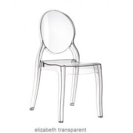 krzesło Elizabeth przezroczyste z poliweglanu