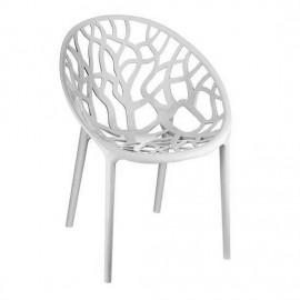 Krzesło CRYSTAL white z poliwęglanu SIESTA