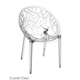 Krzesło CRYSTAL clear z poliwęglanu SIESTA, PRZEŹROCZYSTE