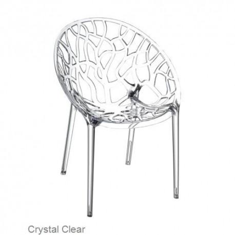 Modernistyczne Krzesło CRYSTAL clear z poliwęglanu SIESTA - MebleGlamour.pl YD99