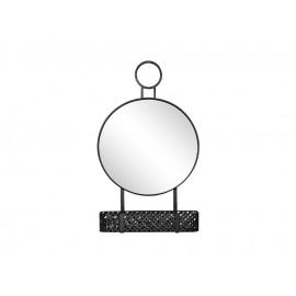 Czarne lustro z zawieszką i metalowym koszyczkiem 42 x 11 x 71 cm TOYJ19-373
