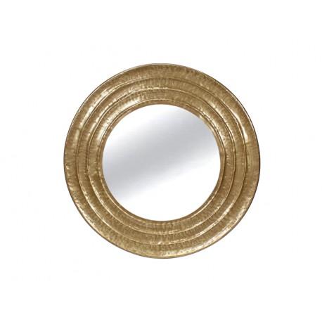 Okrągłe lustro złoty metal mosiądz Ø 81 cm TOYJ19-339
