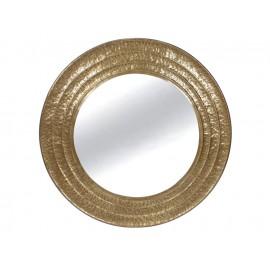 Okrągłe lustro złoty metal mosiądz Ø 101 cm TOYJ19-338