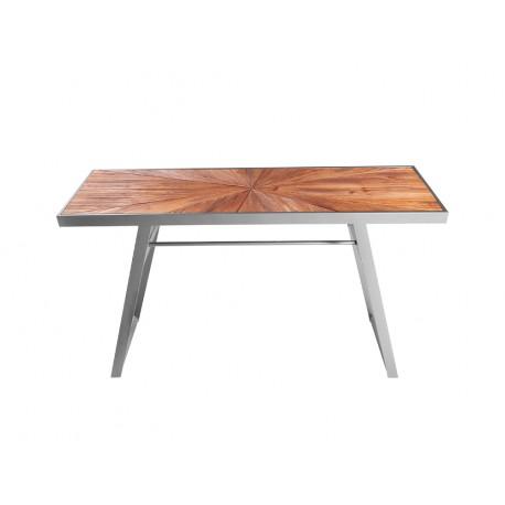 Konsola z drewnianym blatem 120 x 35 x 77 cm TOY69-2349