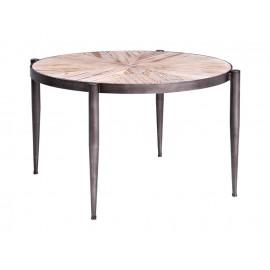 Okrągły stolik kawowy drewniany blat Ø 61 x 38 cm TOY69-2426
