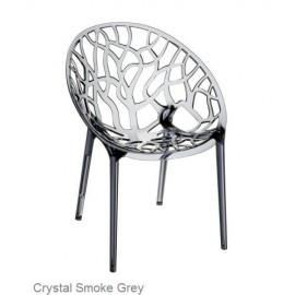 Krzesło CRYSTAL black z poliwęglanu SIESTA