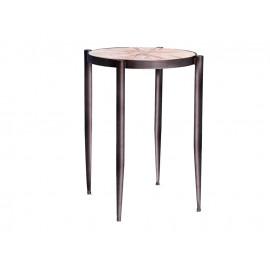 Okrągły stolik kawowy drewniany blat Ø 39 x 55 cm TOY69-2428