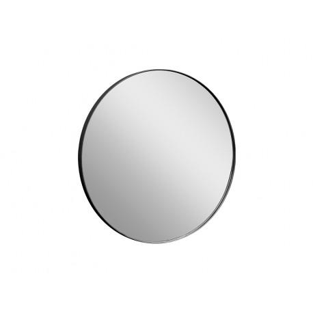 Okrągłe lustro w czarnej oprawie Ø 80 x 4 cm 16F-572