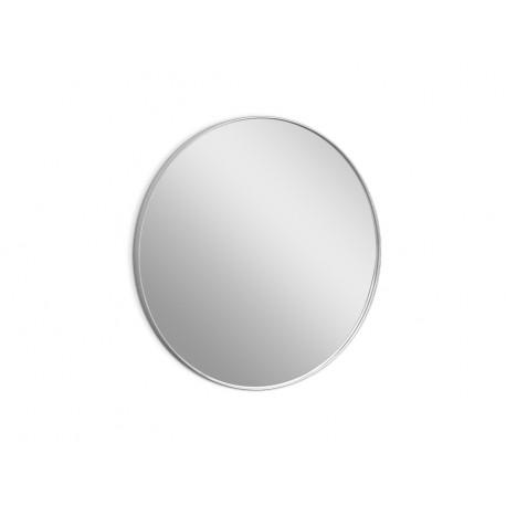 Okrągłe lustro w srebrnej oprawie Ø 80 x 4 cm 16F-572