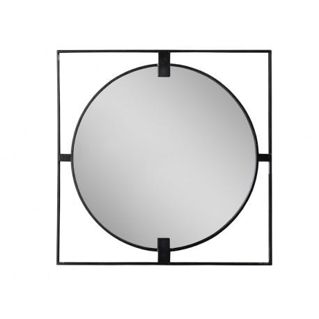 Lustro w stalowej czarnej ramie loft Ø 90 x 2 cm TOYJ19-383