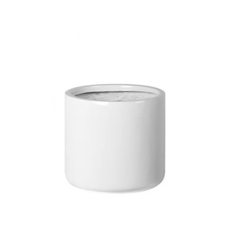 Biała owalna donica Ø 28 x 25 cm 2166/1