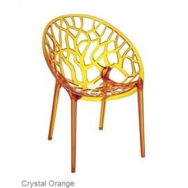 Krzesło CRYSTAL orange z poliwęglanu SIESTA