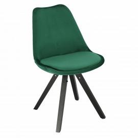 Krzesło Norden Star Square black Velvet zielone