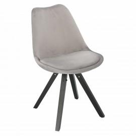 Krzesło Norden Star Square black Velvet szare