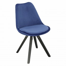 Krzesło Norden Star Square black Velvet niebieskie