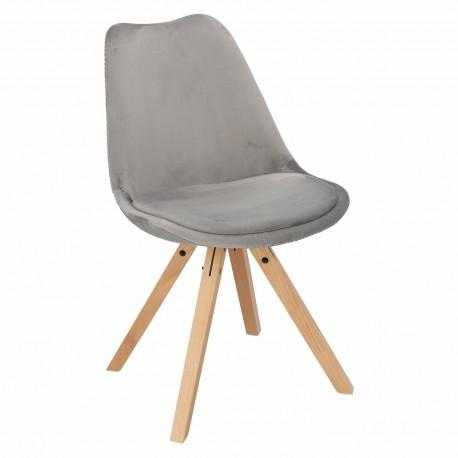 Krzesło Norden Star Square Velvet szare