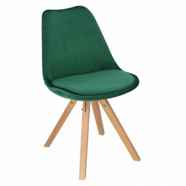 Krzesło Norden Star Square Velvet zielo ne