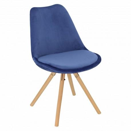 Krzesło Norden Star Velvet niebieskie
