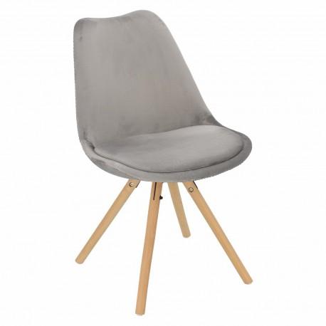 Krzesło Norden Star Velvet szary