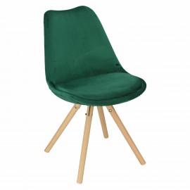 Krzesło Norden Star Velvet zielony