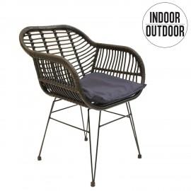 Krzesło Surabaya z podłokietnikami czarn e