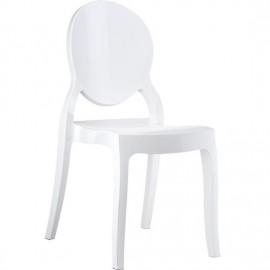 Elizabeth krzesło przezroczyste z poliwęglanu