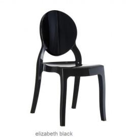 Elizabeth krzesło biały połysk z poliwęglanu