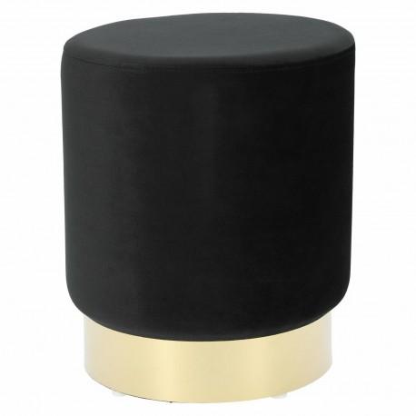 Pufa Delice Velvet L czarna