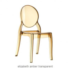 Elizabeth krzesło amber przeźroczyste z poliwęglanu