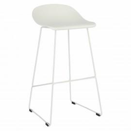 Krzesło barowe Molly białe High