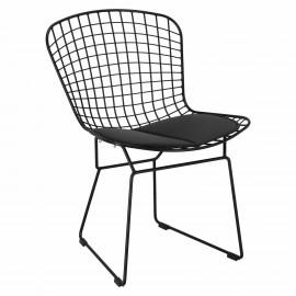 Krzesło Harry czarne / czarna poduszka