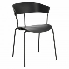 Krzesło Laugar czarne