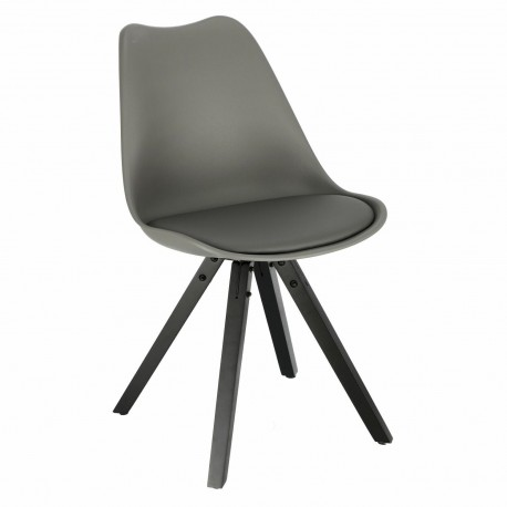 Krzesło Norden Star Square black PP szar e ciemne