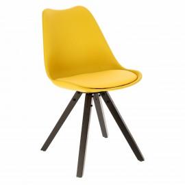 Krzesło Norden Star Square black PP żółt e