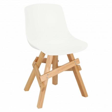 Krzesło Rail białe/ dębowe