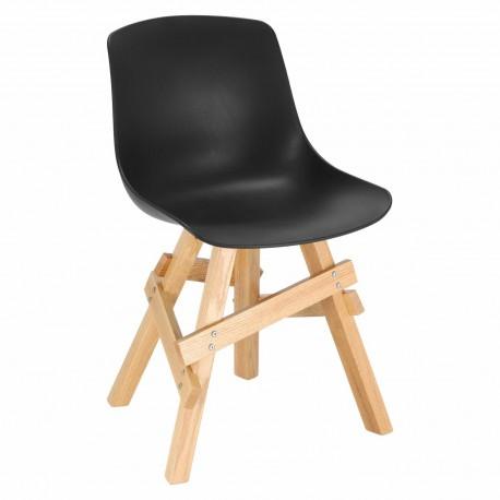 Krzesło Rail czarne/ dębowe