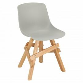 Krzesło Rail szare dębowe