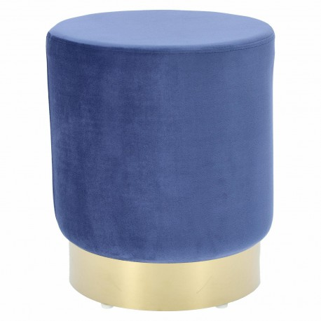 Pufa Delice Velvet L niebieska