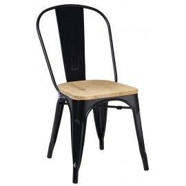 Krzesło Paris Wood czarny jesion