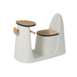 Stolik-krzesło Skuter dziecięcy biały