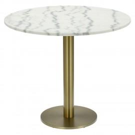 Stół okrągły Corby II 85cm marmur/złoty