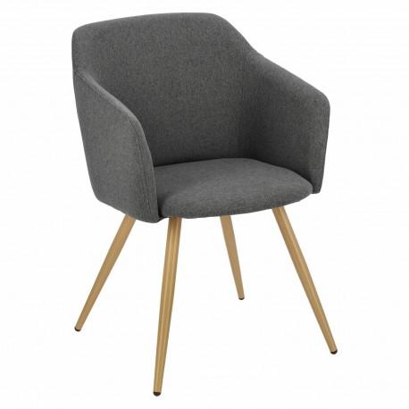 Krzesło Molto szare ciemne