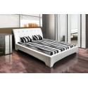 Roxi II - łóżko tapicerowane z wygiętym oparciem