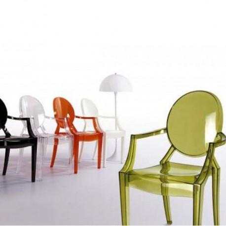 Krzesło inspirowane Ghost z poliwęglanu - Luis